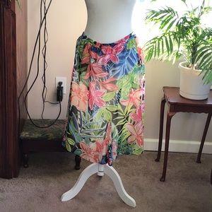 Floral elastic band skirt